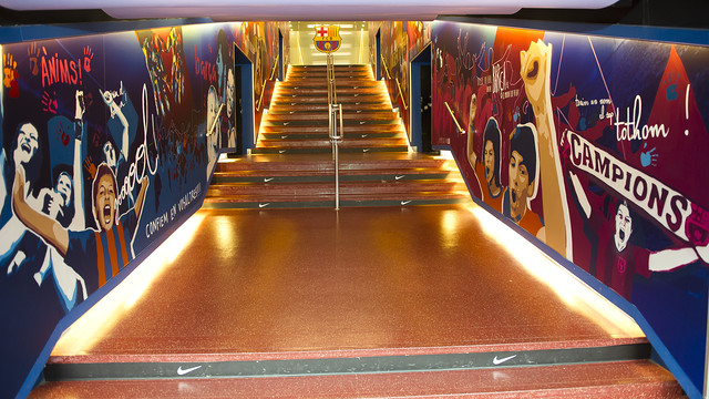 New image of the players tunnel at the Camp Nou / PHOTO: VÍCTOR SALGADO - FCB