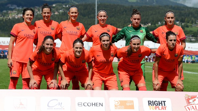 L'onze inicial del Femení A davant l'Anderlecht