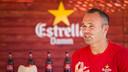 Andrés Iniesta spoke to the press while attending an Estrella Damm  event/ PHOTO: GERMÁN PARGA - FCB