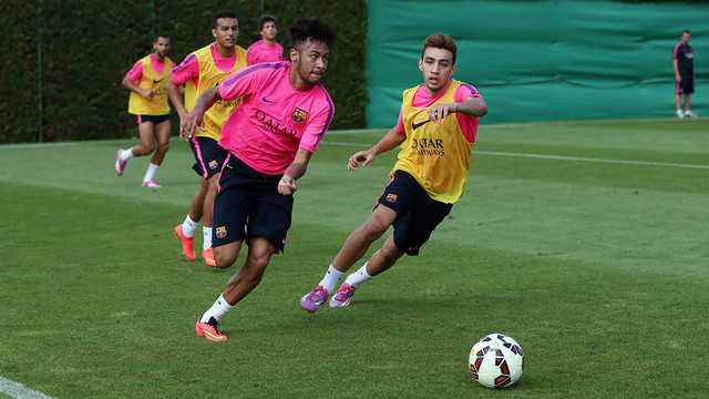 Neymar Jr was able to train normally on Saturday morning / PHOTO: MIGUEL RUIZ - FCB