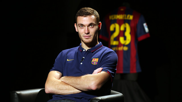 Thomas Vermaelen, during the interview / PHOTO: MIGUEL RUIZ-FCB