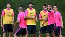Luis Suárez ha completado su segundo entrenamiento con el grupo / FOTO: MIGUEL RUIZ - FCB