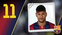 Potret Neymar da Silva Santos Júnior. Nomor punggung 11