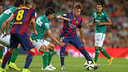 Munir scored twice against León / PHOTO: MIGUEL RUIZ – FCB