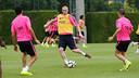 Mathieu, pendant un entrainement. PHOTO: MIGUEL RUIZ - FCB