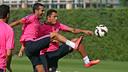 Pedro Rodríguez avec ses coéquipiers / PHOTO: MIGUEL RUIZ - FCB