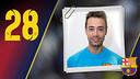 Imatge oficial de Sedano amb la samarreta del FC Barcelona