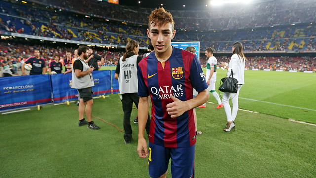 Munir, at the end of the Elche match.