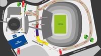 Plano con los servicios de la Cursa Barça 2014