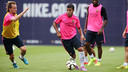 Rafinha felt some tightness this morning in his left leg / PHOTO: MIGUEL RUIZ