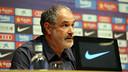 Andoni Zubizarreta, en la sala de prensa Ricard Maxenchs / FOTO: MIGUEL RUIZ - FCB