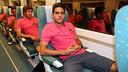 Marc Bartra ce matin l/ PHOTO: MIGUEL RUIZ - FCB