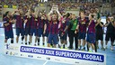 Barça have won yet another edition of the Asobal Super Cup / PHOTO: VICTOR SALGADO - FCB