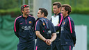 Luis Enrique et son staff. PHOTO: MIguel Ruiz - FCB