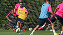 Xavi was among the players that trained this morning. PHOTO: MIGUEL RUIZ - FCB