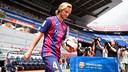 Rakitic was given a warm welcome to the Camp Nou. PHOTO: MIGUEL RUIZ-FCB.