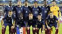 Mathieu, avec le France. PHOTO: www.fff.fr