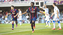 Dongou found the net twice against Zaragoza. PHOTO: VÍCTOR SALGADO-FCB.
