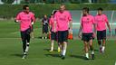 Bravo et Mathieu, mardi / PHOTO: MIGUEL RUIZ-FCB