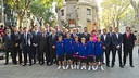 FC Barcelona representatives at the floral offering/ PHOTO: VICTOR SALGADO-FCB