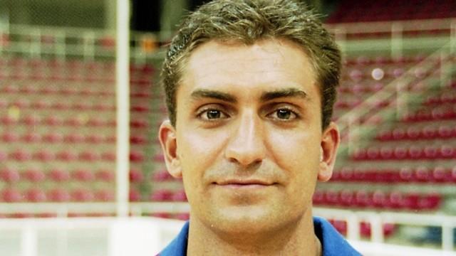 Barbeito a la seva etapa de jugador de l'handbol blaugrana. / FOTO:ARXIU-FCB