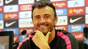 Luis Enrique, having fun with reporters.