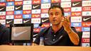 Luis Enrique was speaking at the Ciutat Esportiva Joan Gamper / PHOTO: MIGUEL RUIZ -FCB