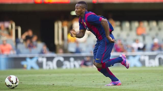 Adama, en una acción contra el Sabadell. FOTO: Arxiu FCB