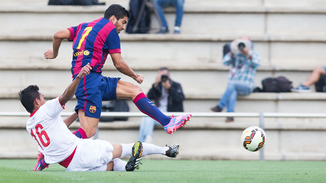 Luis Suárez scored his first two goals in a Barça shirt / PHOTO: GERMÁN PARGA - FCB