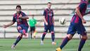 Luis Suárez et Vermaelen avec le Barça B / PHOTO: GERMÁN PARGA - FCB