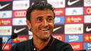 Luis Enrique was speaking to the press in Paris / PHOTO: FCB ARCHIVE