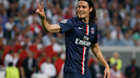 Edinson Cavani, après un but / Photo psg.fr