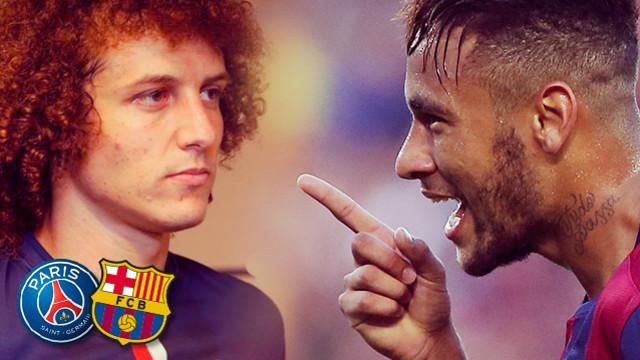 Felipe Luiz i Neymar. FOTOMUNTATGE FCB