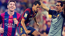 Messi, Busquets et Bravo, toujours titulaires