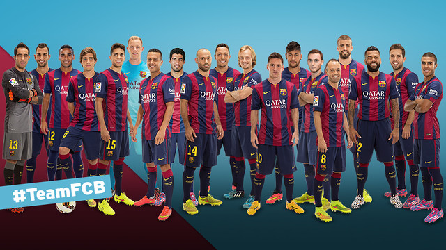 #TeamFCB Twitter players