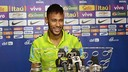 Neymar was speaking to the media from his team's Beijing hotel / PHOTO: CBF.COM.BR