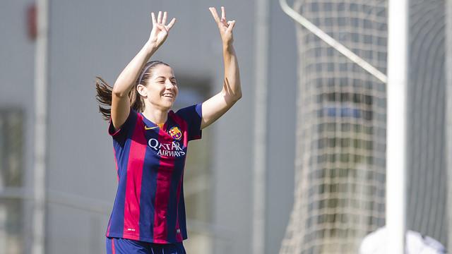Vicky Losada led the Barça women with a brace in Sunday's 4–0 win at Santa Teresa / PHOTO: FCB ARCHIVE