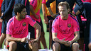 Luis Suárez and Rakitic were back on Wednesday / PHOTO: MIGUEL RUIZ-FCB