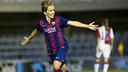 Sonia scored one of Barça's three against Slavia de Praga. PHOTO: VÍCTOR SALGADO-FCB.