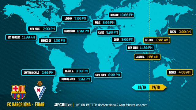 When and where to watch FCBarcelona-Eibar
