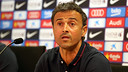 Luis Enrique touched on a host of topics in today's press conference / PHOTO: MIGUEL RUIZ-FCB