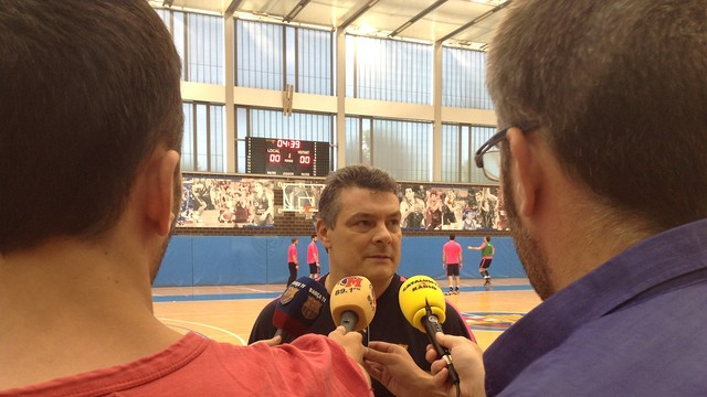 Pascual, divendres al matí a la Ciutat Esportiva. / FOTO:FCB