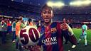 Neymar played his 50th game for Barça against Eibar. PHOTO: FOTOMUNTATGE FCB