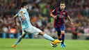 Jordi Alba has made it 50 games for Barça / PHOTO: MIGUEL RUIZ - FCB