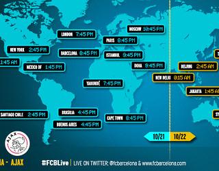 Horarios del FC Barcelona-Ajax