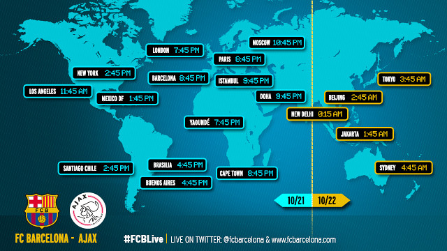 When and where to watch FC Barcelona-Ajax