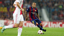 Dani Alves at Camp Nou against Ajax Amsterdam /  PHOTO: MIGUEL RUIZ - FCB