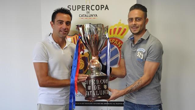 Xavi i Sergio García, amb el trofeu de la Supercopa Catalana