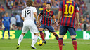 Xavi and Modric faced off in last season's Clásico. PHOTO: MIGUEL RUIZ-FCB.