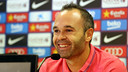 Iniesta spoke to the media at the Ciutat Esportiva / PHOTO: MIGUEL RUIZ - FCB